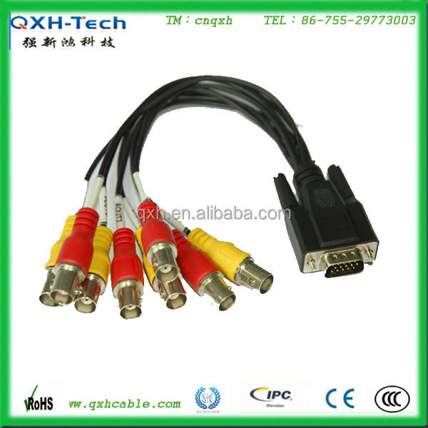 Monitor Cable DB15 to 8 RCA Adapter Cable