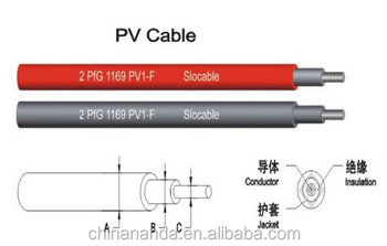 PV1-F copper solar cable
