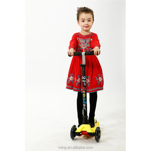 Sports 3 in 1 Wide Deck 3 Wheel Kids Kick Scooter with Led Wheel