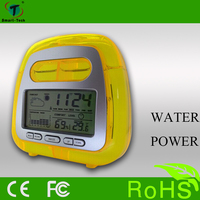 New model water power clock with weather station