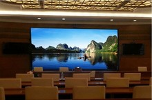 Small Pixels Indoor P5 HD TV Conference LED Display Screen Custom Size Big Screen