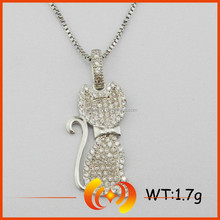 SP0222 New Deisgn Micro Pave Setting Cute Cat Shape Animal Pendant Jewelry