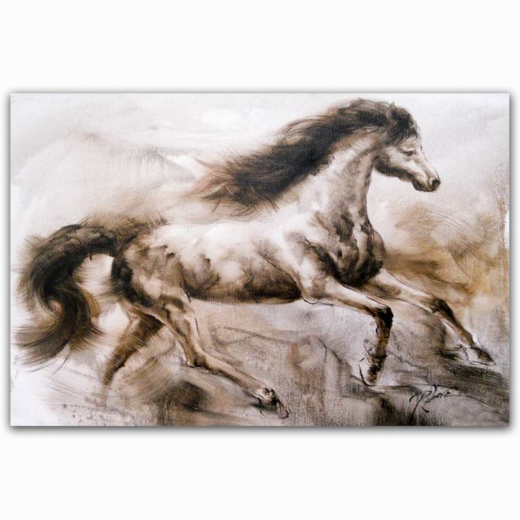 best saling chinese running horses oil painting Original style for living room