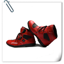 BH-121Bt-3 Red Sportbike Footwear Racing Riding Mens Short Bike Motorcycle Safety Boots Racing Shoes