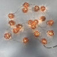 Copper Wire Fairy Rose Gold Metal Ball String Lights Micro Mini Led Battery Micro Dot Lights Fancy Night Light For Home Decor