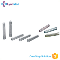 Lab materials clear plastic test tubes