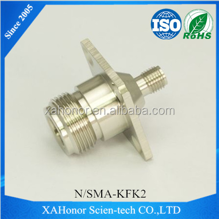 N female to SMA female RF Adapter With 4 Hole Flange