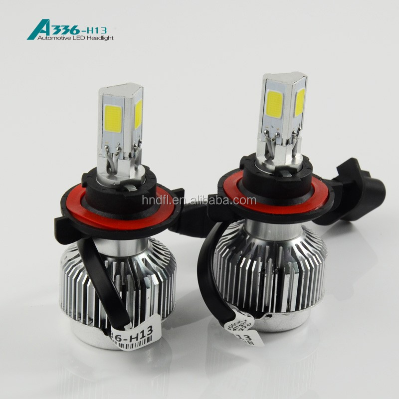 H13 COB LED headlight A336 auto LED bulb 36W 3300LM car headlight CE.ROSH,DOT approved