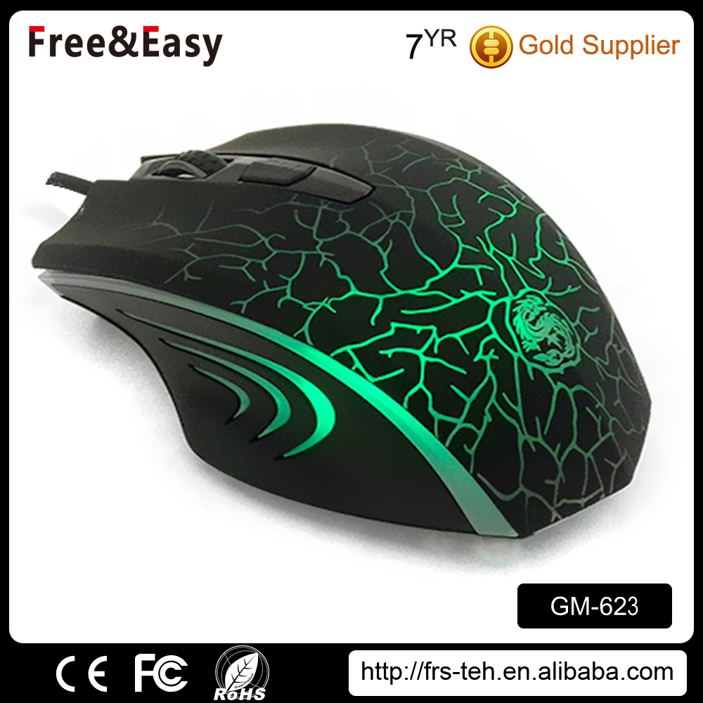 Wired optical gaming mouse 6d adjustable dpi 6 led color mice