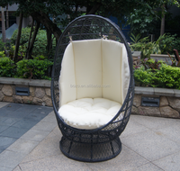 Hot sale high back swivel rocker outdoor rattan chair
