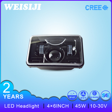 Motorcycles Accessories Universal Motorcycle Headlights 12V 4x6 45W Rtd Led Motorcycle Headlight