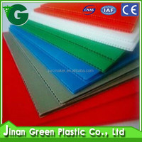 Green 2016 hot sale PP Corrugated board / PP Hollow sheet for advertising printing & Packaging