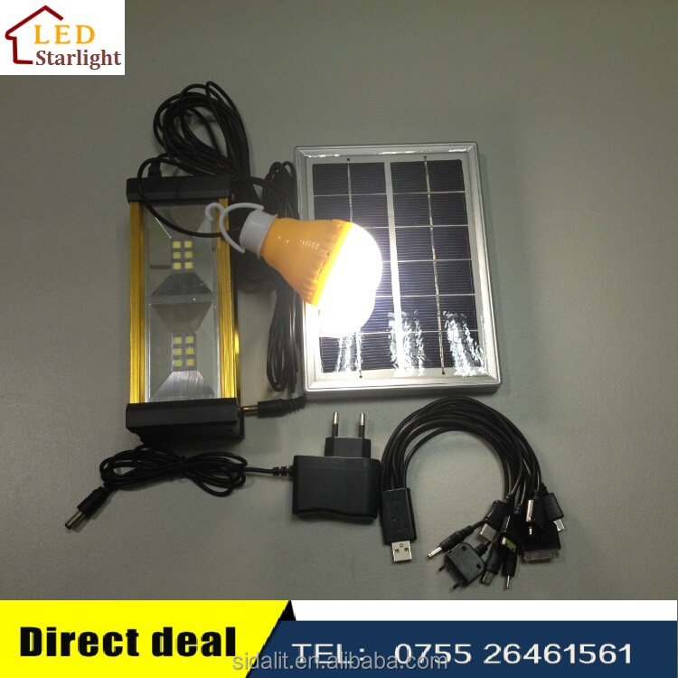 Energy saving 3W LED solar electricity generating system for home