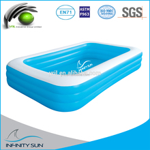 3rings wholesale square molded plastic swimming pools for kids