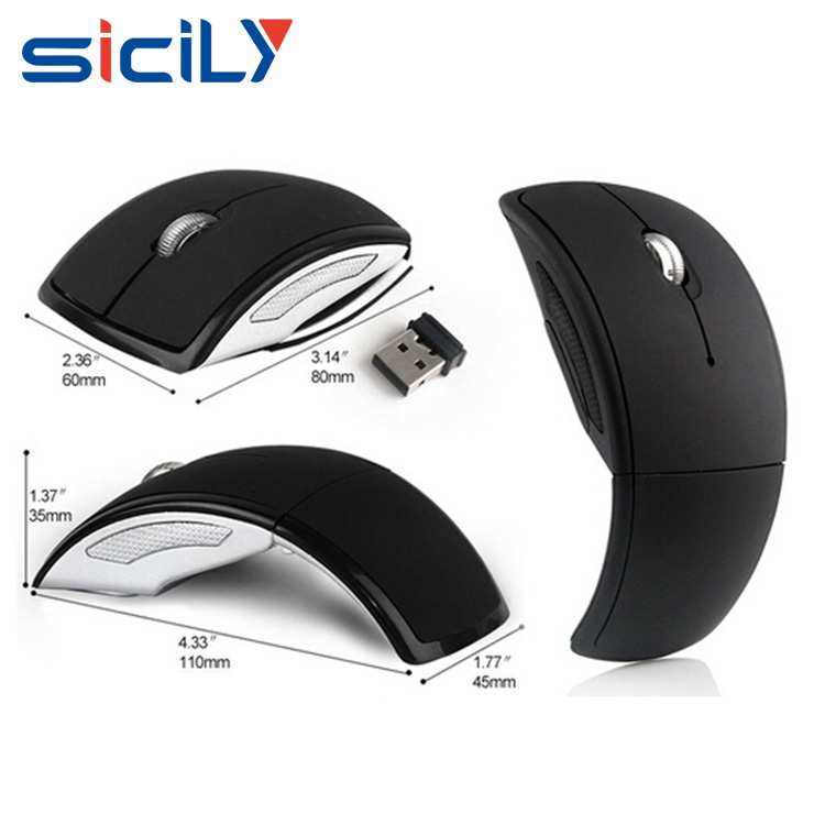 Giveaway Fashion Customized Folding High Quality Wireless Mouse