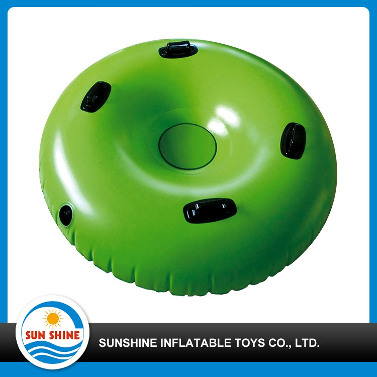 customized cute pvc inflatable snow tubes with hard bottom
