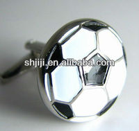 Black White Enamel Soccer Cufflinks