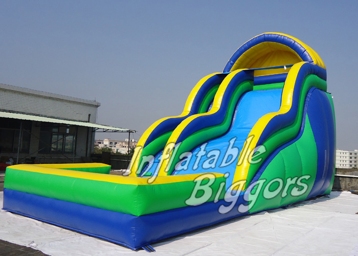 Large and Exciting Inflatable Water Slide Pool For Sale