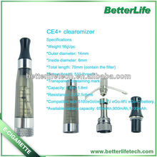 health smoking electronic cigarettes ce6 atomizer replaceable wick