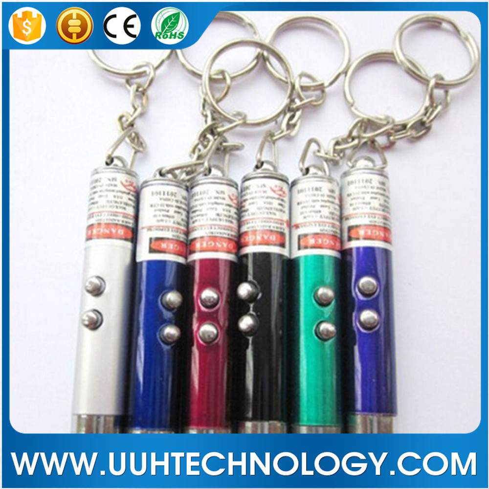 Multifunction Mini Laser Light Pointer LED Torch Flashlight Keychain green laser pointer