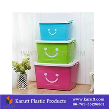 High quality stackable plastic clothes containers with lid