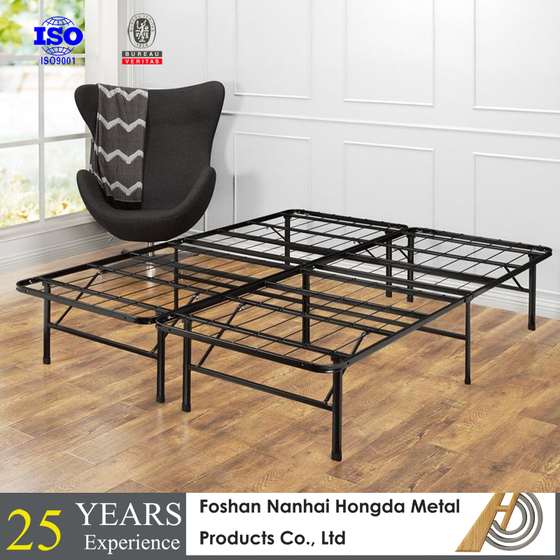Cheap Metal Queen platform folding bed for USA