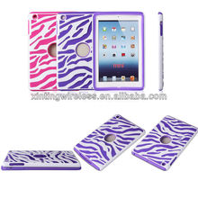 zebra pc + silicone hybird case cover for ipad mini
