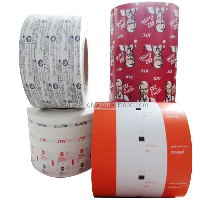 Customized food grade pe coated paper pack sugar in sachets, paper roll for packing suga