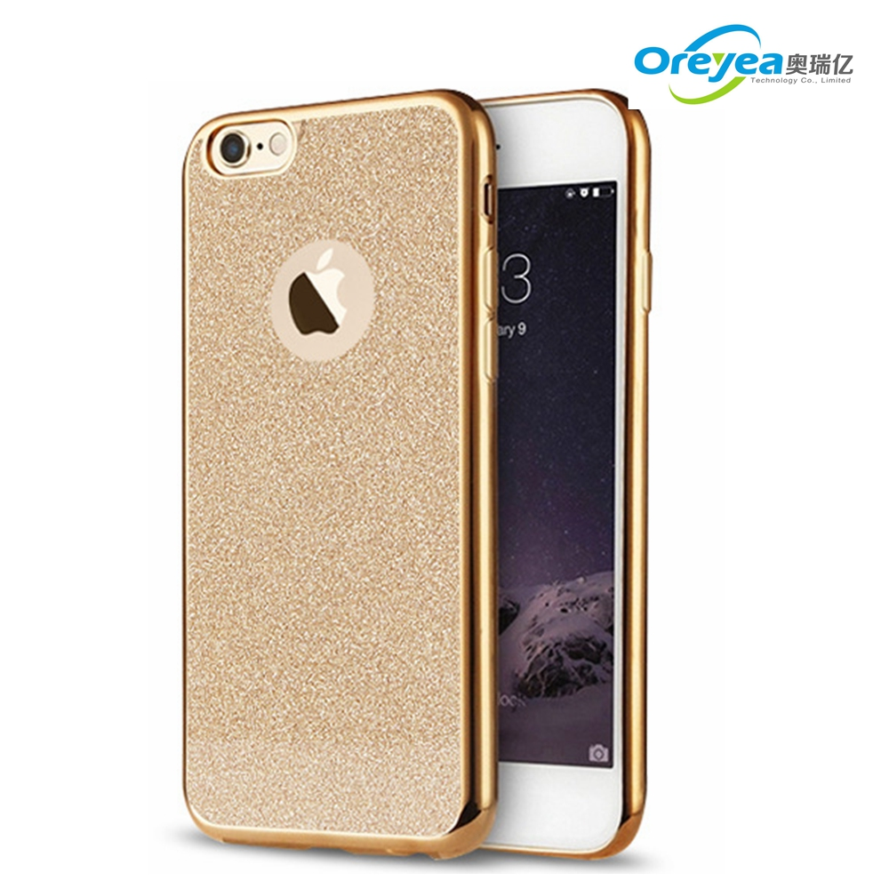 New design shining electroplate soft ultrathin TPU case for iphone 7 plus cover <strong>protect</strong> for iphone6s plus