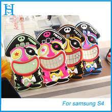 3D silicon phone case for samsung galaxy s4 cover