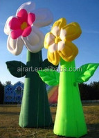 Inflatable wedding flower pillar