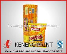 Flexible printing lamination packaging for food