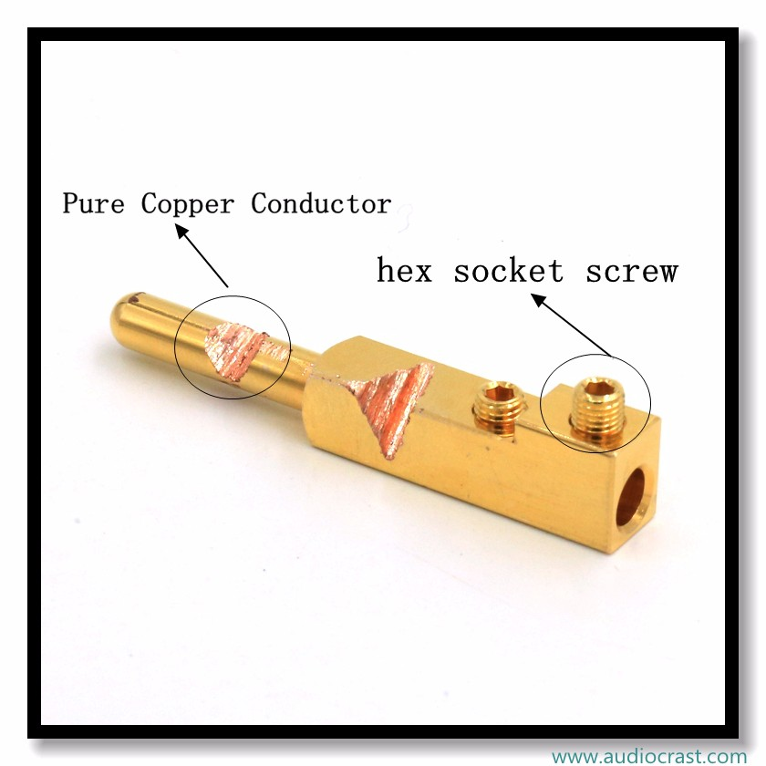 OEM Pure copper Gold Plated EU Electrical Power Plug +Female cable Connector forDIY HIFI Power cable