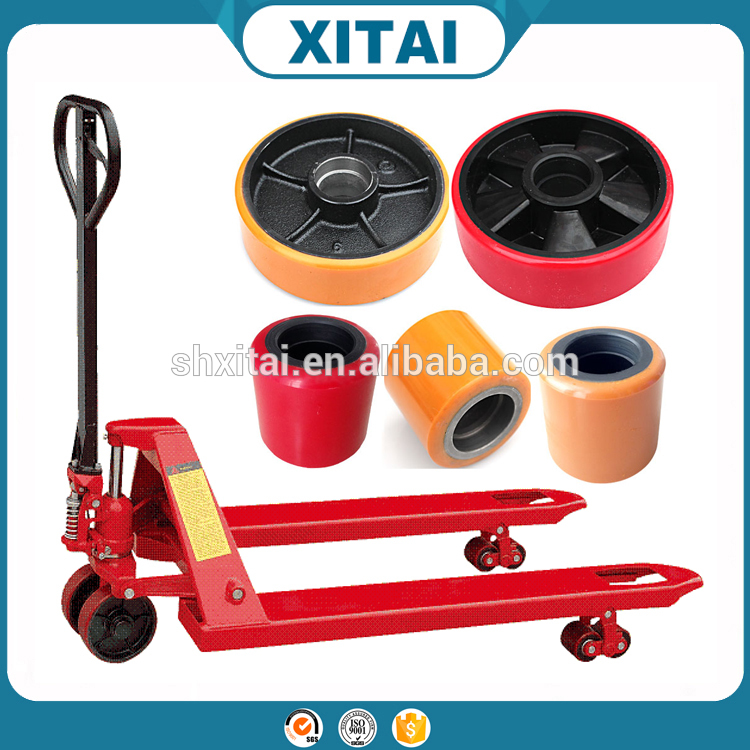 China Supplier 2016 oem 1150mm x 550mm with twin roller ac hand pallet truck wheel