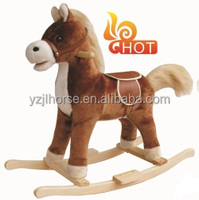 Soft Stuffed Plush Rocking Horse with Sound and Movement Features