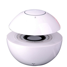 Hot Quality white Colorful lights 3.5mm audio input Voice prompt mini fm radio pill mushroom bluetooth speaker