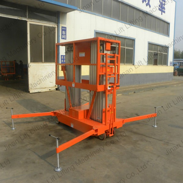 Portable Hydraulic Lift Cart : Mobile portable hydraulic lift for painting vertical
