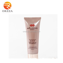 Beauty care colored empty cream tube with massage roll cap