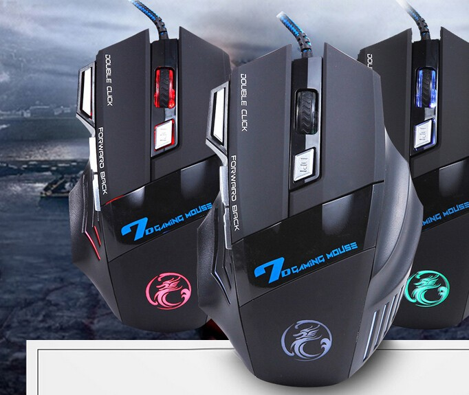 Avago chipest 4 speed DPI drivers usb 7d gaming mouse with fire button for Computer