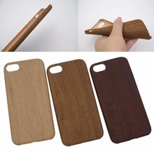 Wood texture plain soft TPU mobile phone Case for iPhone7plus
