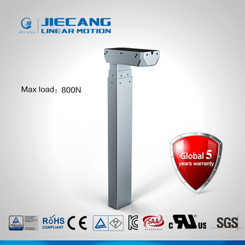 Jiecang JS36DR1-3-S stroke length 650 mm fast speed 35mm per sceond lifting desk legs lifting column