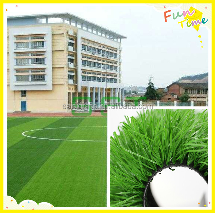 Gymnasium use artificial grass for soccer