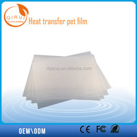 Transfer Film for heat transfer, pet film thermoforming for jersey logo