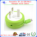 Wholesale UK US EU Plug Wall Charger Usb with Micro Cable for Android Smart Phone