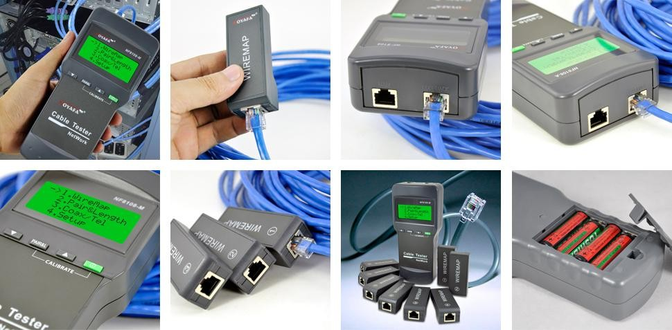 Noyafa Network Cable Tester for Measure network cable length and determine the distance of breakage point (NF-8108M)