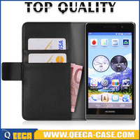 Wholesale flip cover case for huawei Ascend P6 wallet leather case for huawei Ascend P6