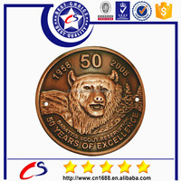 2015 sale old die casting metal antique Coins holder with lion for souvenir