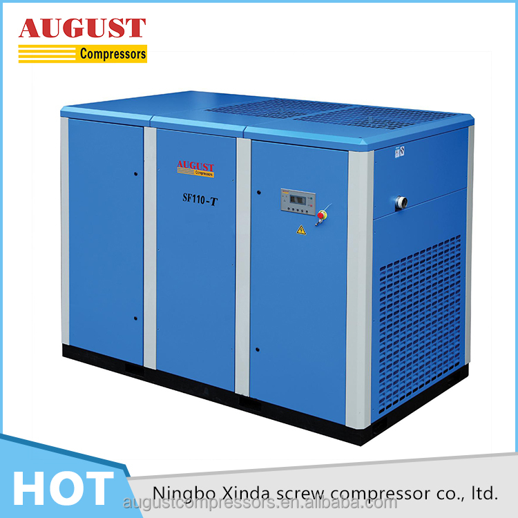 SF110-TD 110KW/150HP 8 BAR AUGUST variable frequency air cooled screw air compressor medium voltage variable frequency drive