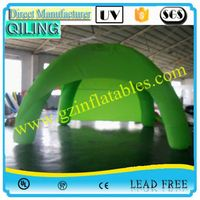 Qi Ling enquirement air dome triangle shape inflatable tent balloon