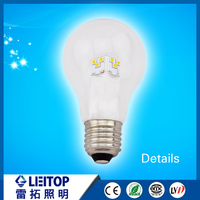 Chinese manufacturer 360 degree led lights A60 5w led filament bulb